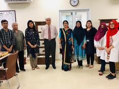 Madam Imrana Maqsood (A Novelist & Playwright) visit to Senior Citizens Primary Care Unit