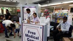 Free Medical Camp at Naheed Super Mart