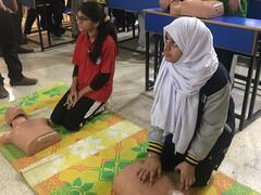 CPR Awareness Activity at Meritorious School