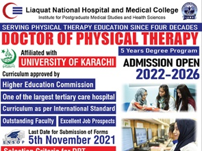 Admissions Open in Doctor of Physical Therapy
