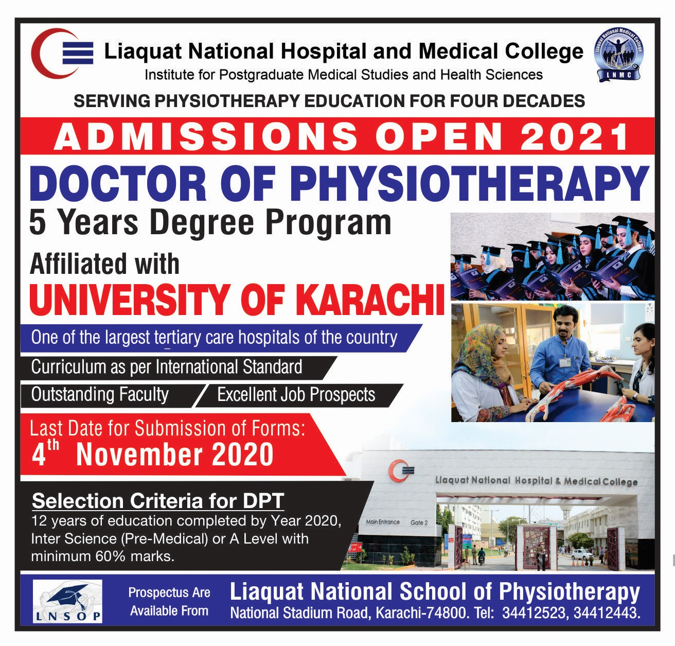 Admissions Open 2021 in Doctor of Physiotherapy