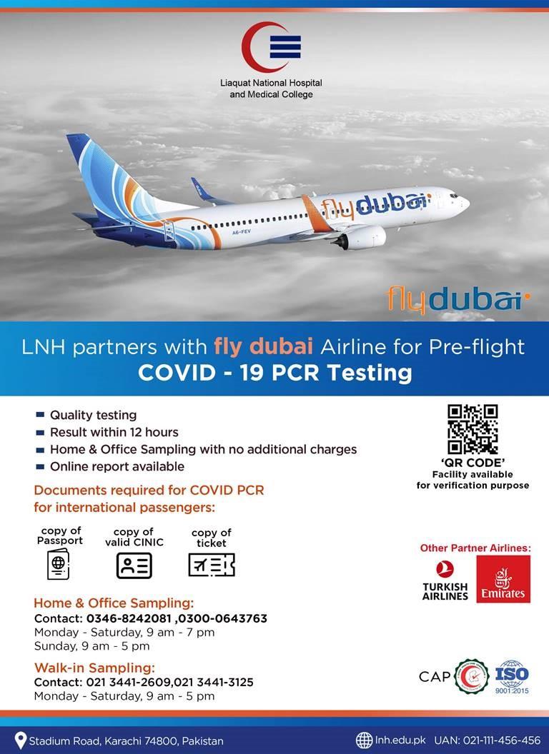 Pre-flight COVID-19 PCR Testing