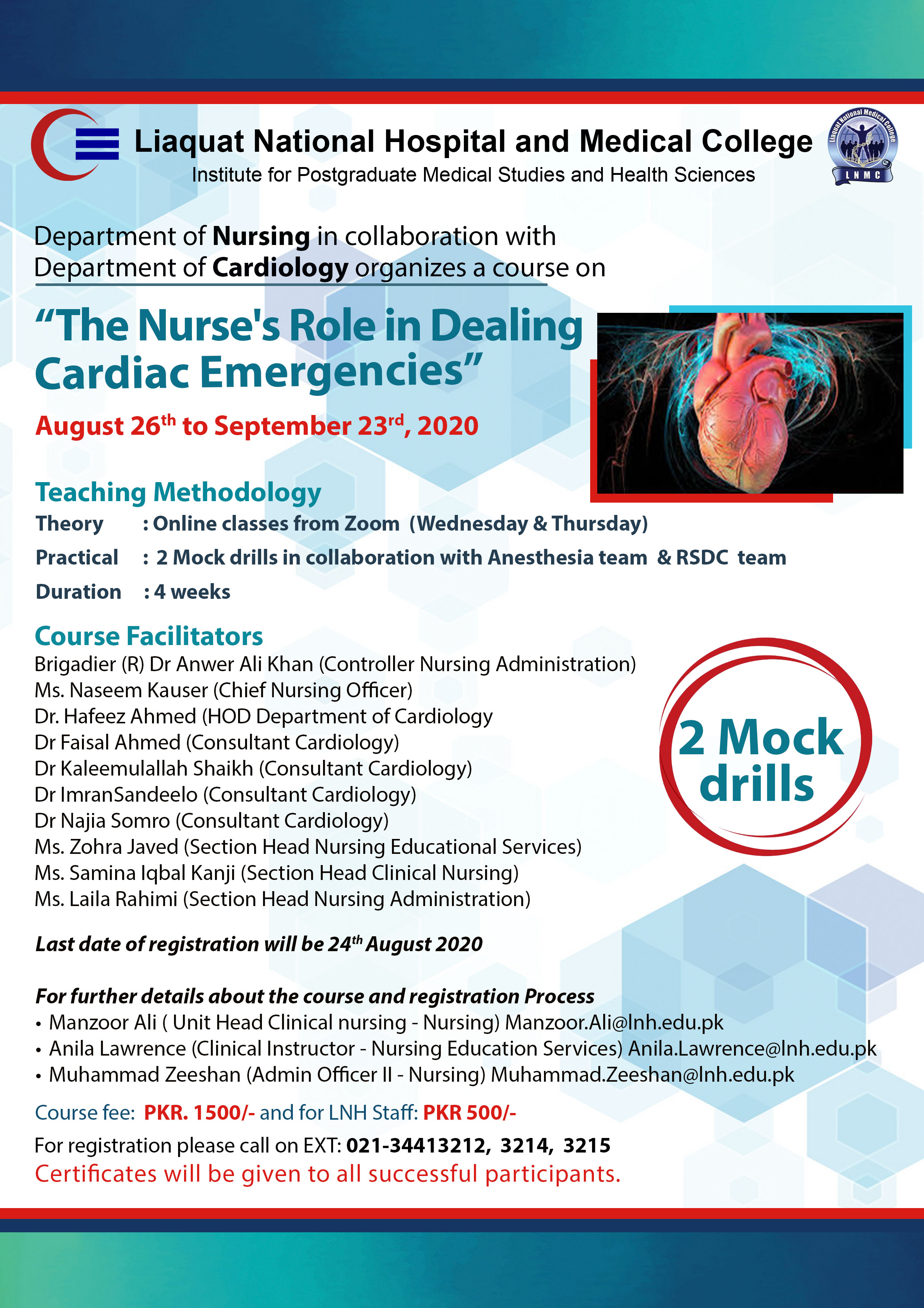 Course on The Nurse's Role in dealing Cardiac Emergencies
