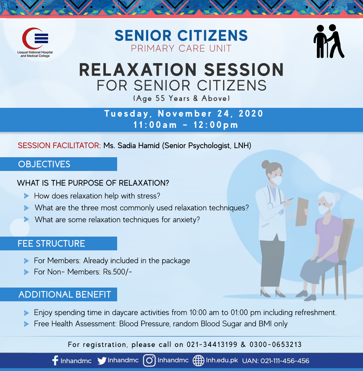 Relaxation Session for Senior Citizens
