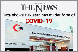 Data shows Pakistan has milder form of COVID-19