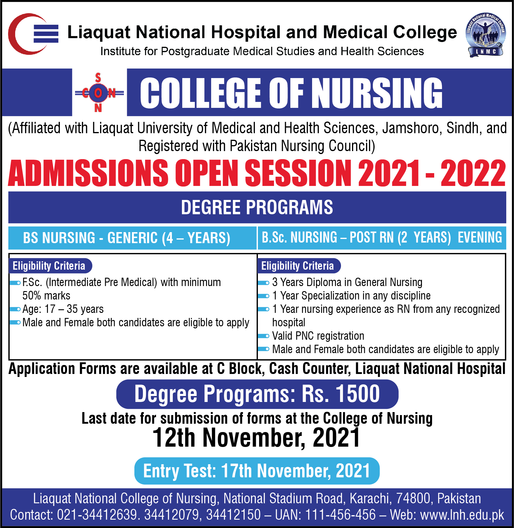 Admissions Open Session 2021 – 2022