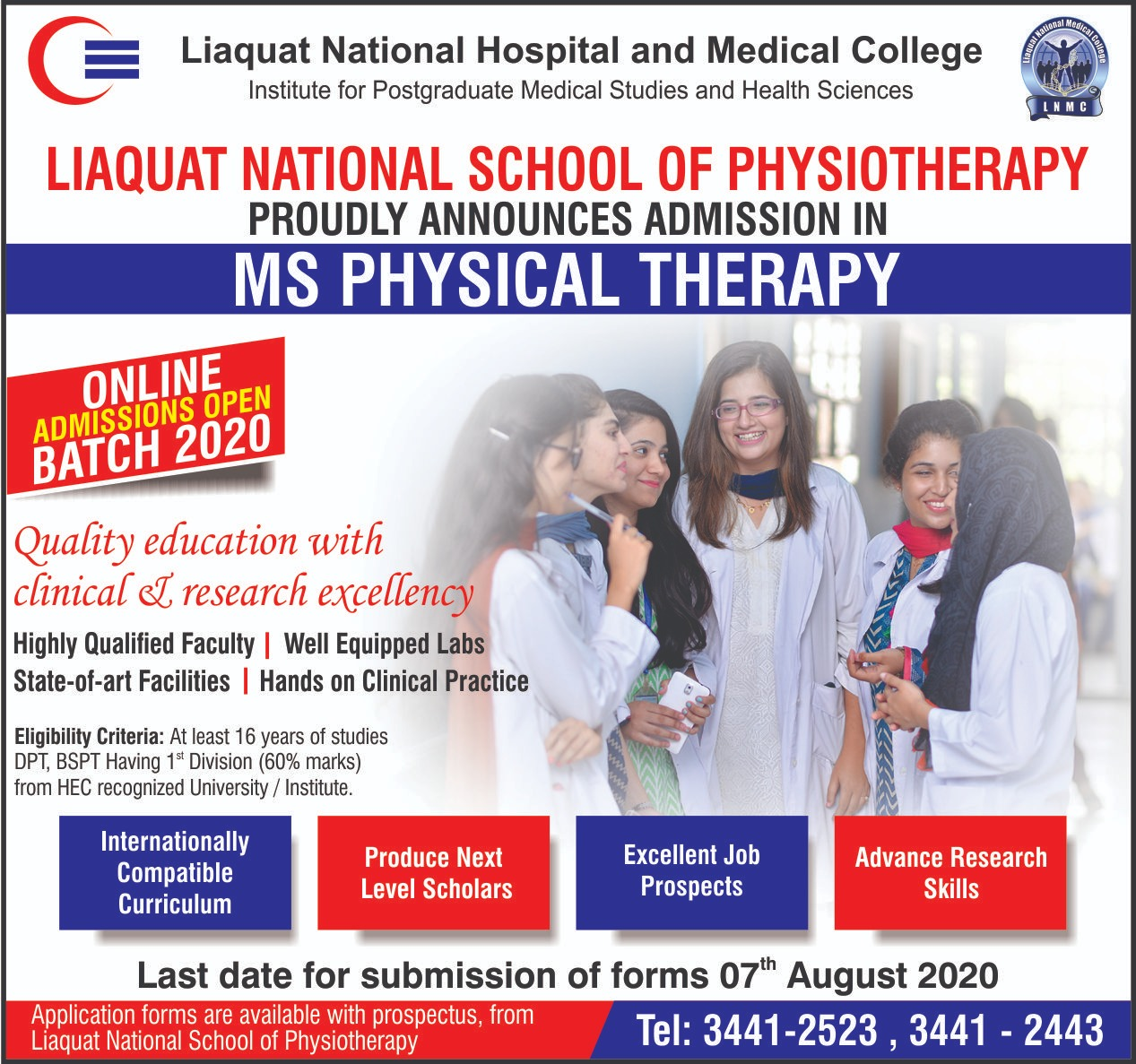 Admission in MS Physical Therapy