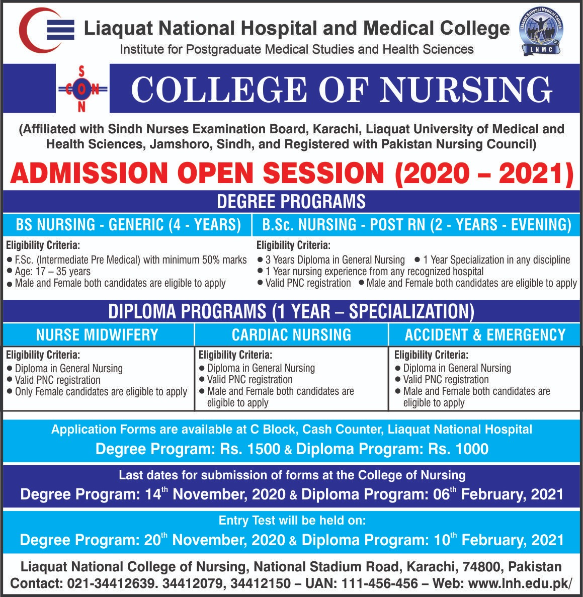Admissions Open Session 2020-2021
