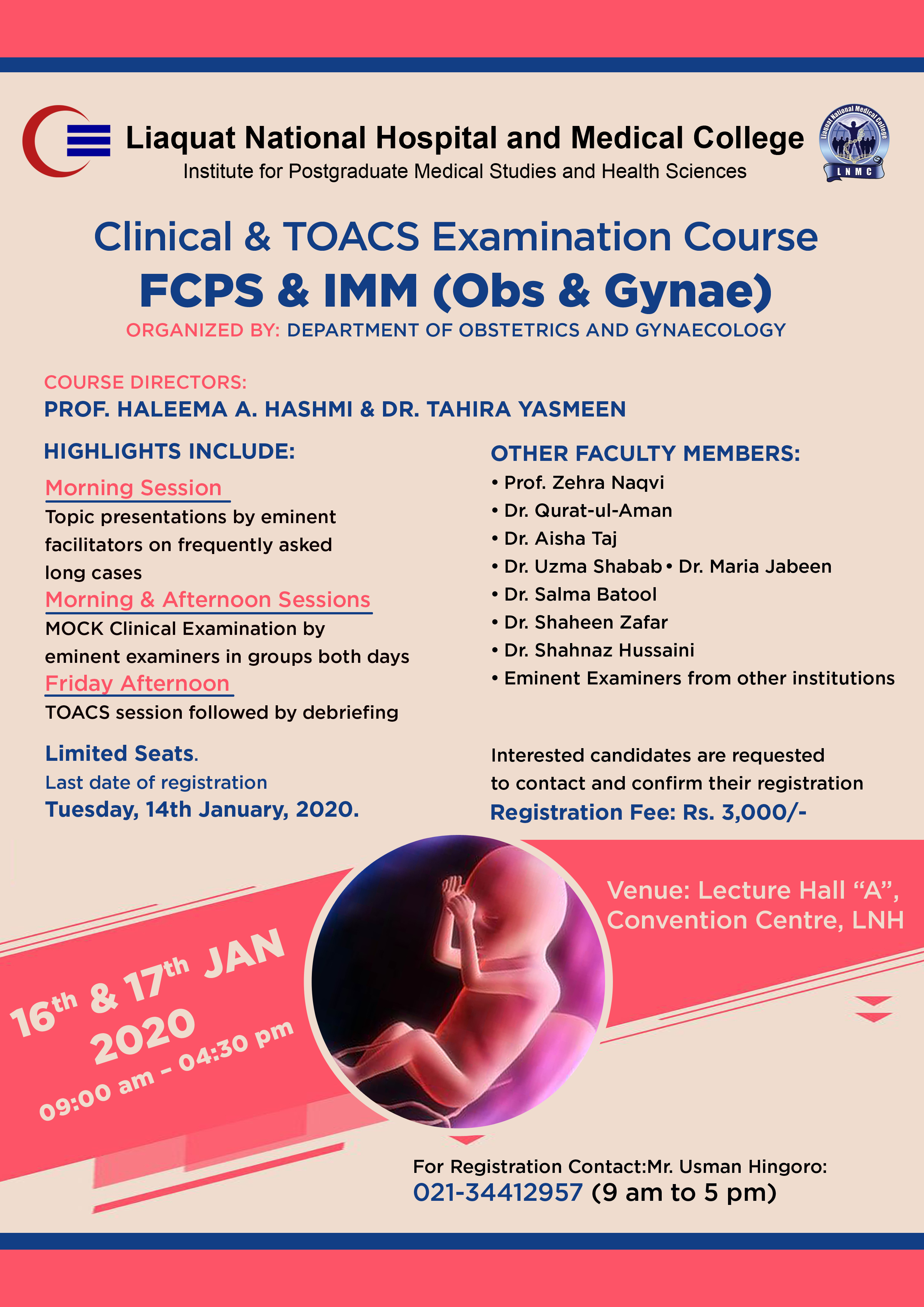 Clinical and TOACS Examination Course